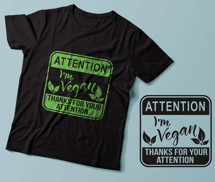 Penyertaan Peraduan #72 untuk Vegan T-shirt Designs