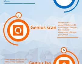 Nro 2 kilpailuun Design an simple info graphic for top 10 apps käyttäjältä dipankarpatar