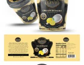 #69 dla Design a label for a coconut cream frozen yogurt container przez sanjaynirmal69