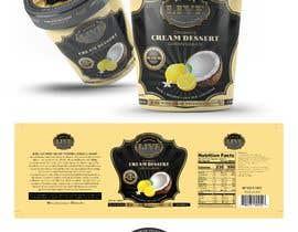 Nro 69 kilpailuun Design a label for a coconut cream frozen yogurt container käyttäjältä sanjaynirmal69