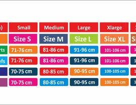 #16 para Make our size chart amazing por maani107