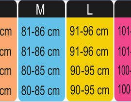 #30 para Make our size chart amazing por maani107