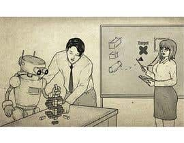 #21 para Draw a robot and a human in a business scene por RafaelRenoldi