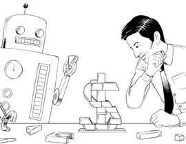 #6 para Draw a robot and a human in a business scene por RoyBeltran
