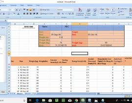 #16 untuk Design a Weight Loss Tracking  Excel Spreadsheet oleh asinghania88