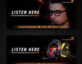 #9 untuk Design A Website Banner To Promote Gaming Headset Sales oleh akidmurad