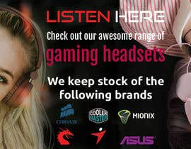 #11 untuk Design A Website Banner To Promote Gaming Headset Sales oleh mehedyhasan707