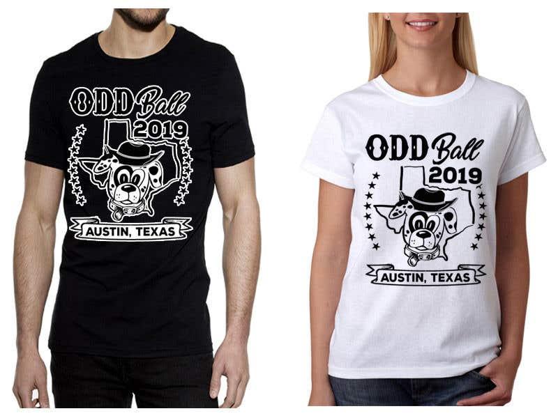 """Inscrição nº 98 do Concurso para Tshirt Design for a Group of Owners of Dog Daycares """"The ODD ball!"""