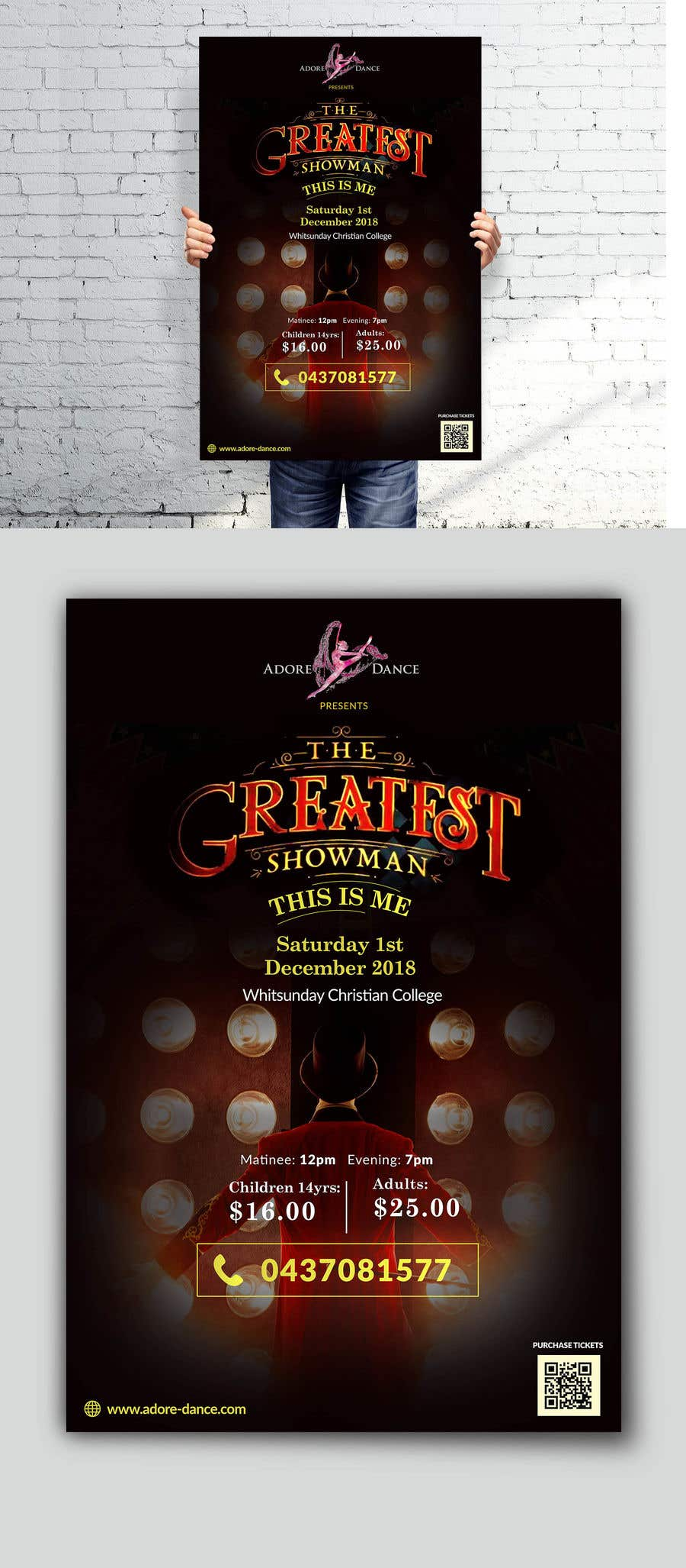 Konkurrenceindlæg #12 for The Greatest Showman Poster