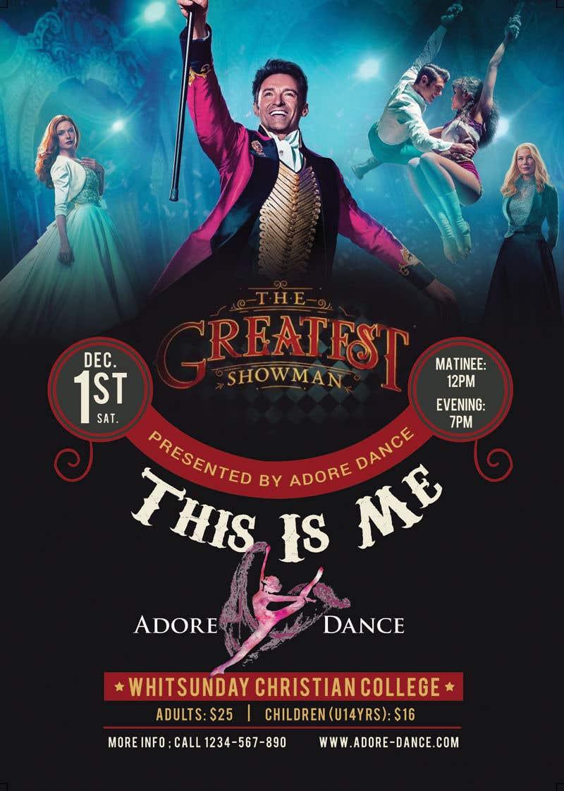 Konkurrenceindlæg #27 for The Greatest Showman Poster