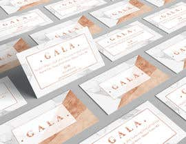 nº 35 pour I need some graphic design. For business card and price tag , my company name is GALA , color: rose gold & off white. par angelacini