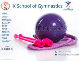 #31 para Website Design for ik gymnastics LLC por datagrabbers