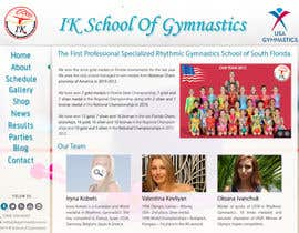 #61 para Website Design for ik gymnastics LLC por datagrabbers