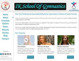 #73 para Website Design for ik gymnastics LLC por datagrabbers
