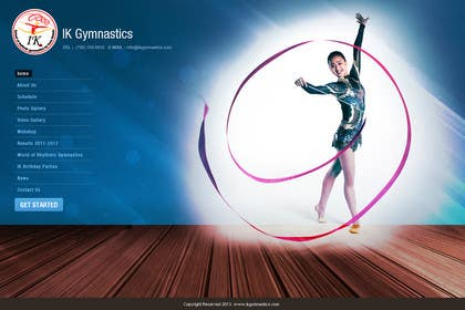 #71 for Website Design for ik gymnastics LLC by vijayadesign