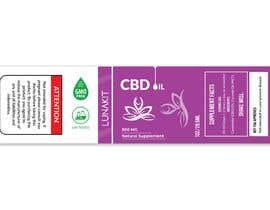 Nro 31 kilpailuun Design a label for a cbd tincture/oil käyttäjältä saleheen2