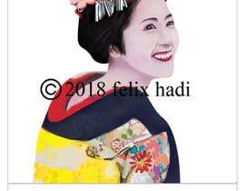 #13 untuk Improve and finish Geisha design for T shirt oleh felixhadi