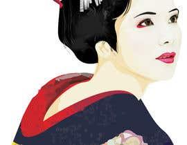 #4 untuk Improve and finish Geisha design for T shirt oleh letindorko2