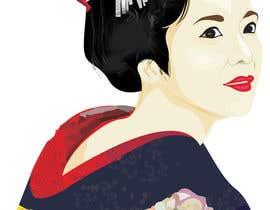 #6 untuk Improve and finish Geisha design for T shirt oleh letindorko2