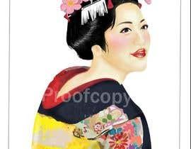 #16 untuk Improve and finish Geisha design for T shirt oleh fujo23