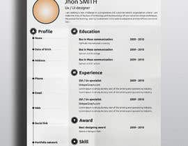 #106 for Design my Resume / CV by abdulmonayem85