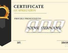 Nro 29 kilpailuun Certificate design - authenticity käyttäjältä AMALAARUN143