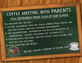 #18 для Create a coffee invitation for preschool parents от AkS0409