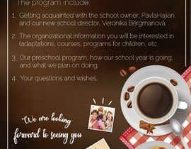 #11 для Create a coffee invitation for preschool parents от mbauzamartinez