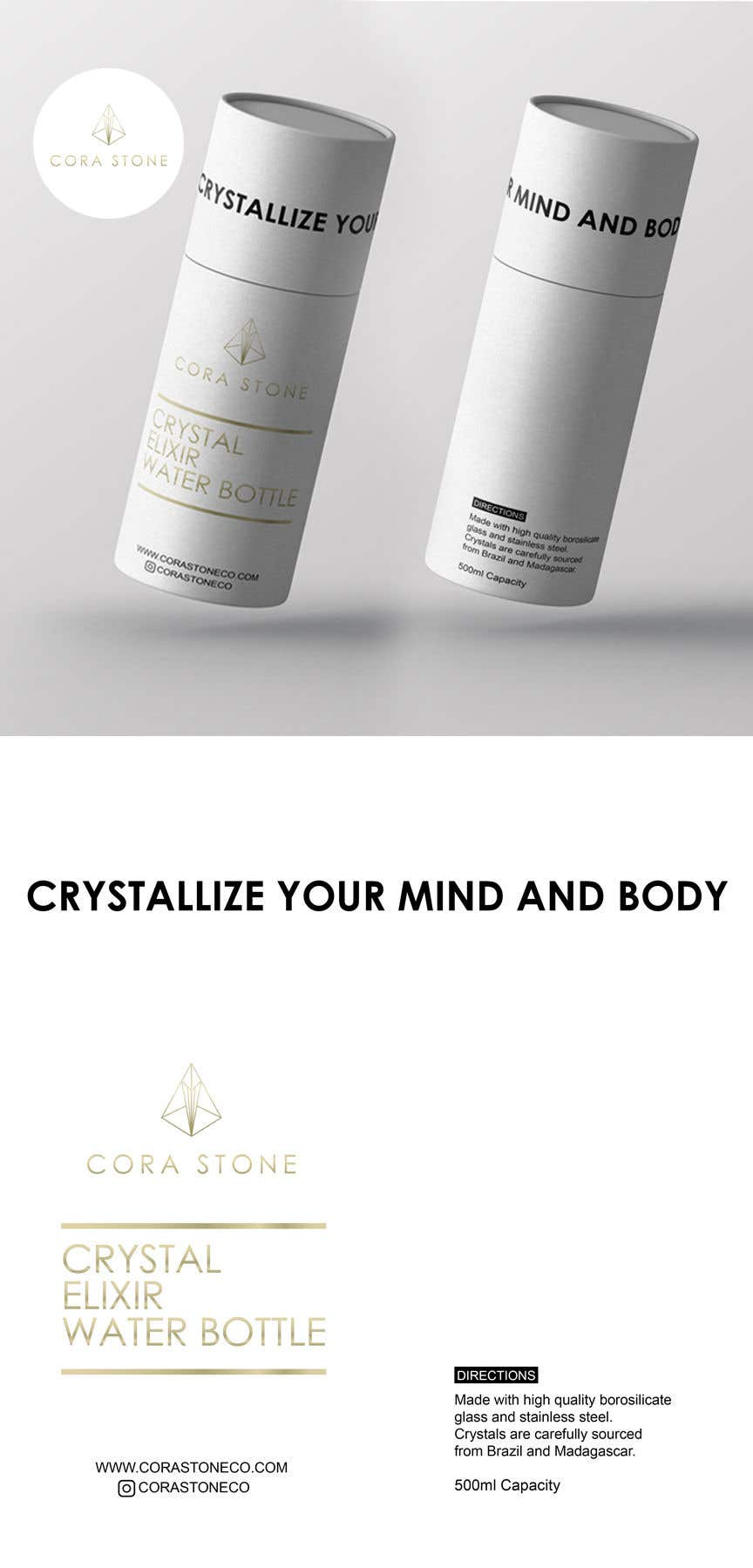 Proposition n°11 du concours Cylinder Box Design for Water Bottle