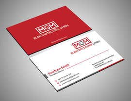 #488 for Design a business card for MGM Elektrotechnik GmbH af Shahed34800