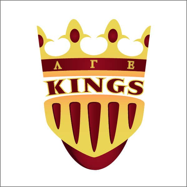 Kilpailutyö #17 kilpailussa we are a small organization that has been using the same logo (kings for years) we are looking for a new one to use for our social media and other things themes we typically stick w is a 4 pointed crown, knights and castles our letters are Lambda Gamma Ep