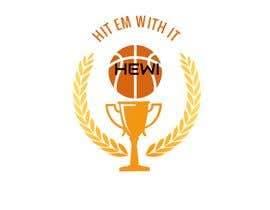 #15 untuk Would like logo to incorporate something with basketball in it. The name I would like to have with it is Hit Em Wit It and HEWI. I have attached an older logo with the name that I would like to have with the logo. oleh tafoortariq
