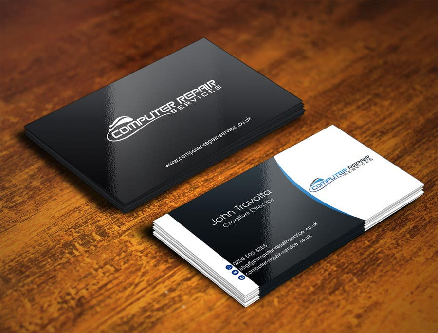 Entry #69 by IllusionG for Design some Business Cards for computer ...