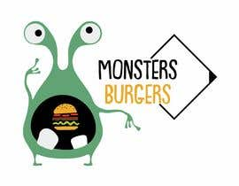#54 para I wanna make logo for a restaurant,, the restaurant name ( monsters burgers) i post some photos I would like if the logo like thise stuff they looks like what i am imagination for the monster. de lacta84