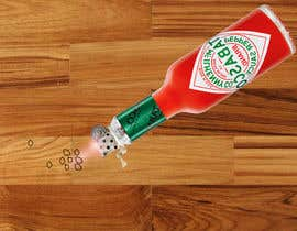#9 for I need a picture of a Tabasco bottle on his side. And few drops that spilled of it burned the table. It need to be a close up from the side and need to look realistic as well. Thanks to the helpers!  (Good work may provide more to the creators) by rahmanmijanur126