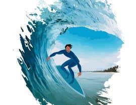 #12 para Design for a popsocket item, surfs up dude por primmonim