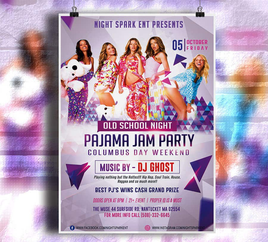 Entry #22 by rubelmiah014 for Design an Old School Pajama Jam Party