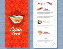Nro 22 kilpailuun Create a double sided full colour A5 takeout food menu. käyttäjältä hadayethm1999