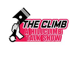 """#2 for The show is called """"The Climb"""" A Hillclimb Talk Show"""". —— the climb on top line— hillclimb talk show on the bottom —- back ground a motorcycle tire af vectordesign99"""