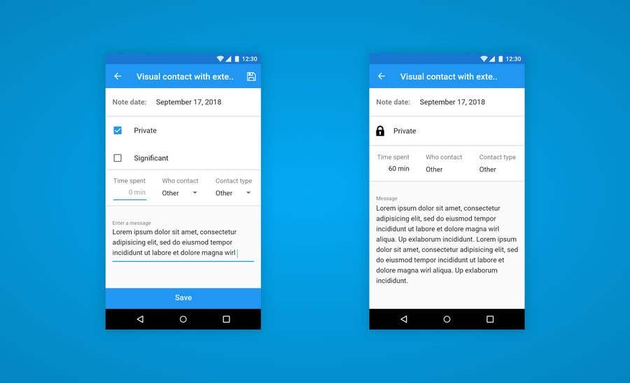 Entry #4 by alexkurchev for Android app form layout and