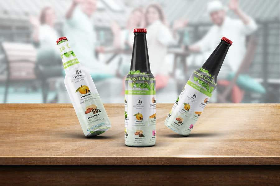 Kilpailutyö #8 kilpailussa drink product design about with many background