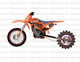 nº 10 pour Cartoon drawing of the orange bike made similar to the green one par carlosov