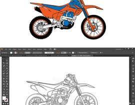 nº 2 pour Cartoon drawing of the orange bike made similar to the green one par asadmohon456