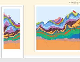 #16 for Create A Graphic of a Geological Cross Section for a Glass Partition by miqeq