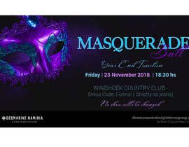 #64 para Formal masquerade event invite por karypaola83