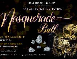 Nro 69 kilpailuun Formal masquerade event invite käyttäjältä hernanriveravzla
