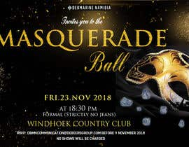 Nro 70 kilpailuun Formal masquerade event invite käyttäjältä hernanriveravzla