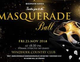 Nro 71 kilpailuun Formal masquerade event invite käyttäjältä hernanriveravzla