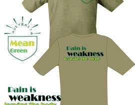 Nro 13 kilpailuun Mean Green Logo and catchphrase for team shirts käyttäjältä aafsana288