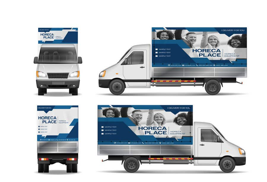 Penyertaan Peraduan #25 untuk I am looking for a nice design for our company van